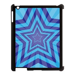 Abstract Starburst Blue Star Apple Ipad 3/4 Case (black) by Amaryn4rt