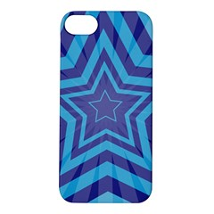 Abstract Starburst Blue Star Apple Iphone 5s/ Se Hardshell Case by Amaryn4rt