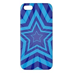 Abstract Starburst Blue Star Iphone 5s/ Se Premium Hardshell Case by Amaryn4rt