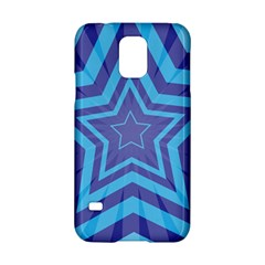 Abstract Starburst Blue Star Samsung Galaxy S5 Hardshell Case  by Amaryn4rt