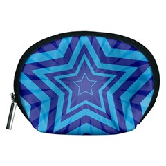 Abstract Starburst Blue Star Accessory Pouches (medium)  by Amaryn4rt