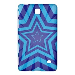 Abstract Starburst Blue Star Samsung Galaxy Tab 4 (7 ) Hardshell Case  by Amaryn4rt