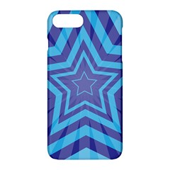 Abstract Starburst Blue Star Apple Iphone 7 Plus Hardshell Case by Amaryn4rt