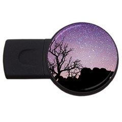 Arches National Park Night Usb Flash Drive Round (2 Gb) by Amaryn4rt
