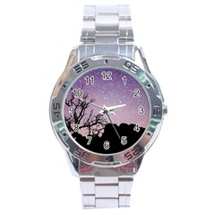 Arches National Park Night Stainless Steel Analogue Watch