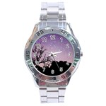 Arches National Park Night Stainless Steel Analogue Watch Front