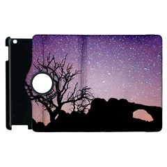 Arches National Park Night Apple Ipad 3/4 Flip 360 Case by Amaryn4rt