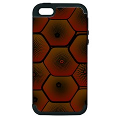 Art Psychedelic Pattern Apple Iphone 5 Hardshell Case (pc+silicone) by Amaryn4rt