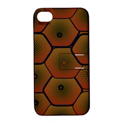 Art Psychedelic Pattern Apple Iphone 4/4s Hardshell Case With Stand by Amaryn4rt