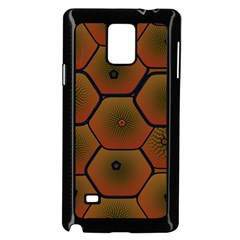 Art Psychedelic Pattern Samsung Galaxy Note 4 Case (black)