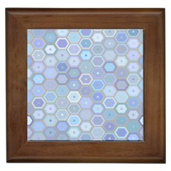 Bee Hive Background Framed Tiles by Amaryn4rt