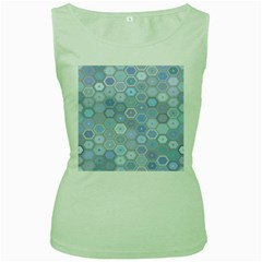 Bee Hive Background Women s Green Tank Top by Amaryn4rt