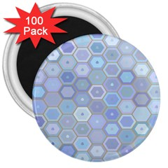 Bee Hive Background 3  Magnets (100 Pack) by Amaryn4rt
