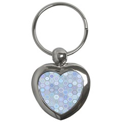 Bee Hive Background Key Chains (heart)  by Amaryn4rt