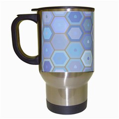 Bee Hive Background Travel Mugs (white) by Amaryn4rt