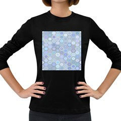 Bee Hive Background Women s Long Sleeve Dark T Shirts by Amaryn4rt