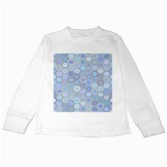 Bee Hive Background Kids Long Sleeve T Shirts by Amaryn4rt