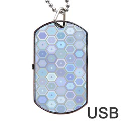 Bee Hive Background Dog Tag Usb Flash (two Sides) by Amaryn4rt