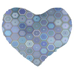 Bee Hive Background Large 19  Premium Heart Shape Cushions by Amaryn4rt