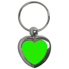 Bee Hive Texture Key Chains (heart)  by Amaryn4rt