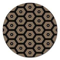 Black Bee Hive Texture Magnet 5  (round) by Amaryn4rt