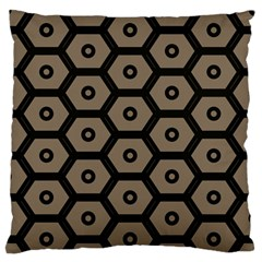 Black Bee Hive Texture Large Flano Cushion Case (two Sides)