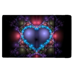 Blue Heart Apple Ipad 2 Flip Case by Amaryn4rt