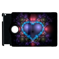 Blue Heart Apple Ipad 2 Flip 360 Case by Amaryn4rt