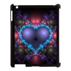 Blue Heart Apple Ipad 3/4 Case (black) by Amaryn4rt