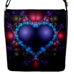 Blue Heart Flap Messenger Bag (s)
