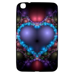 Blue Heart Samsung Galaxy Tab 3 (8 ) T3100 Hardshell Case  by Amaryn4rt