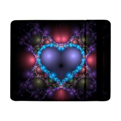 Blue Heart Samsung Galaxy Tab Pro 8 4  Flip Case by Amaryn4rt
