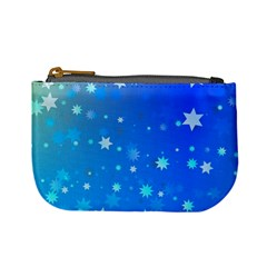 Blue Hot Pattern Blue Star Background Mini Coin Purses