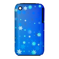 Blue Hot Pattern Blue Star Background Iphone 3s/3gs by Amaryn4rt