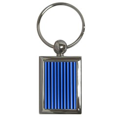 Blue Lines Background Key Chains (rectangle)  by Amaryn4rt