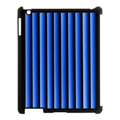 Blue Lines Background Apple Ipad 3/4 Case (black) by Amaryn4rt