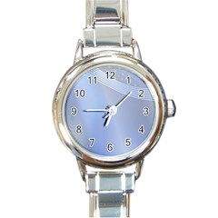 Blue Star Background Round Italian Charm Watch