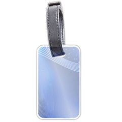 Blue Star Background Luggage Tags (one Side)