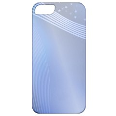 Blue Star Background Apple Iphone 5 Classic Hardshell Case by Amaryn4rt