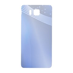 Blue Star Background Samsung Galaxy Alpha Hardshell Back Case by Amaryn4rt