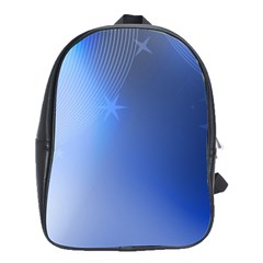 Blue Star Background School Bags(large)