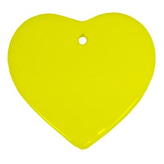 Yellow Color Heart Ornament (two Sides) by Jojostore