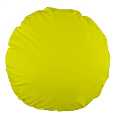 Yellow Color Large 18  Premium Flano Round Cushions by Jojostore