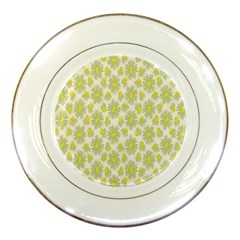 Another Supporting Tulip Flower Floral Yellow Gray Porcelain Plates