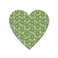 Another Supporting Tulip Flower Floral Yellow Gray Green Heart Magnet by Jojostore