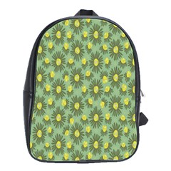 Another Supporting Tulip Flower Floral Yellow Gray Green School Bags(large)  by Jojostore