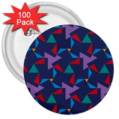 Areas Of Colour Square Relative Neutrality 3  Buttons (100 Pack)  by Jojostore