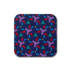 Areas Of Colour Square Relative Neutrality Rubber Square Coaster (4 Pack)  by Jojostore