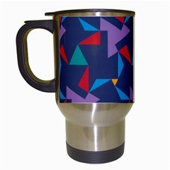 Areas Of Colour Square Relative Neutrality Travel Mugs (white) by Jojostore
