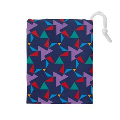 Areas Of Colour Square Relative Neutrality Drawstring Pouches (large)